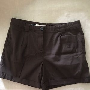 Old Navy Brown Pleated Shorts